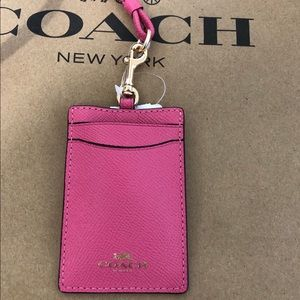Adorable Authentic Coach Pink Ruby Lanyard NWT